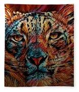 Wild Leopard Fleece Blanket