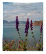 Wild Lupines Fleece Blanket