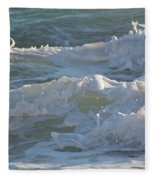 Wild Mediterranean Waves Fleece Blanket