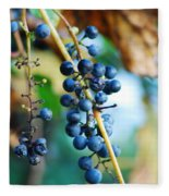 Wild Michigan Grapes Fleece Blanket