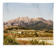 Wild Mountain Range Fleece Blanket