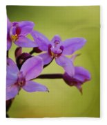 Wild Orchids 2 Fleece Blanket