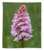 Wild Pink Spotted Orchid Fleece Blanket