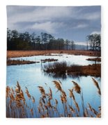 Wild Ponies Grazing Fleece Blanket
