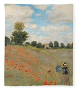Wild Poppies Near Argenteuil Fleece Blanket