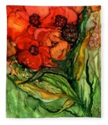 Wild Poppies - Organica Fleece Blanket