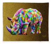 Wild Rainbow Fleece Blanket