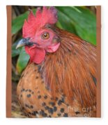 Wild Rooster Fleece Blanket