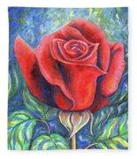 Wild Rose One Fleece Blanket