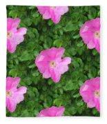 Wild Rose Pattern Fleece Blanket