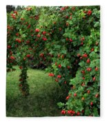 Wild Rosehips Fleece Blanket