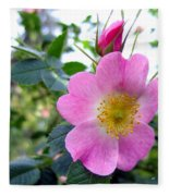 Wild Roses 2 Fleece Blanket