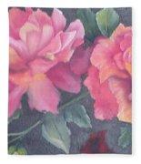 Wild Roses Fleece Blanket