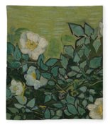 Wild Roses Saint-remy-de-provence, May-june 1889 Vincent Van Gogh 1853 - 1890 Fleece Blanket