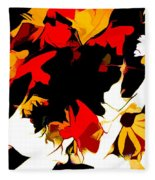 Wild Side Of A Flower Fleece Blanket