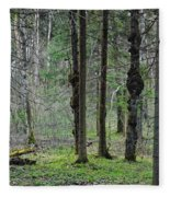 Wild Spring Forest Fleece Blanket