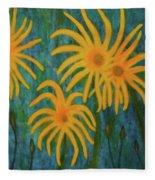 Wild Sunflowers Fleece Blanket