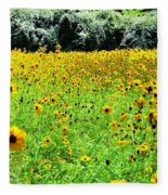 Wild Sunflowers Fleece Blanket
