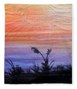 Wild Sunset Fleece Blanket
