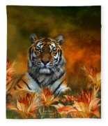 Wild Tigers Fleece Blanket