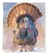 Wild Tom Turkey Fleece Blanket