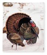 Wild Turkey Parade Print Fleece Blanket