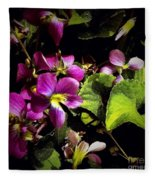 Wild Violets Fleece Blanket