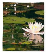Wild Water Lilly Fleece Blanket