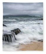 Wild Weather At Geodha Mhartainn On The Isle Of Harris Fleece Blanket