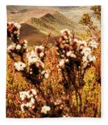 Wild West Mountain View Fleece Blanket