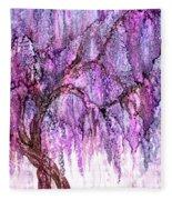 Wild Wisteria Fleece Blanket