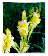 Wild Yellow Flowers Fleece Blanket