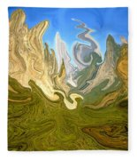 Wild Yosemite - Abstract Modern Art Fleece Blanket