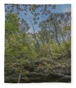 Wildcat Den Cliffs And Trees In Fall Fleece Blanket