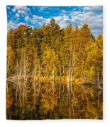 Wilderness Pond 3 Fleece Blanket