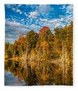 Wilderness Pond  Fleece Blanket