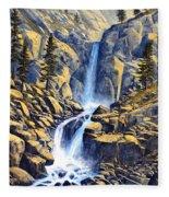 Wilderness Waterfall Fleece Blanket