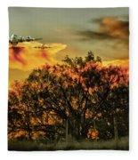 Wildfire C-130  Fleece Blanket