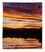 Wildfire Sunset 1v  Fleece Blanket