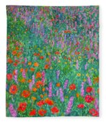 Wildflower Current Fleece Blanket