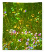 Wildflower Field Fleece Blanket