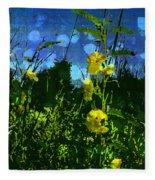 Wildflower Field Fleece Blanket