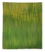 Wildflower Fields Abstract Fleece Blanket