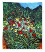 Wildflower Garden 1 Fleece Blanket