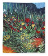 Wildflower Garden 2 Fleece Blanket