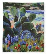 Wildflower Garden Fleece Blanket