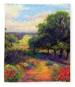 Wildflower Meadows Of Color And Joy Fleece Blanket