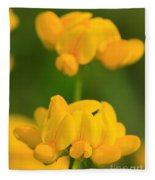 Wildflower Named Birdsfoot Trefoil Fleece Blanket