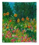 Wildflower Rush Fleece Blanket