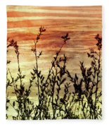 Wildflower Sunrise Fleece Blanket